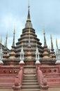 Wat phan tao buddhist temple chiang mai thailand wat phan tao means monastery thousand kilns Royalty Free Stock Image