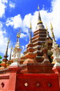 Wat phan tao temple of thailand the beautiful pagoda in blue sky Royalty Free Stock Photography
