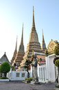 Wat pho bangkok authentic thai architecture in at thailand Stock Images