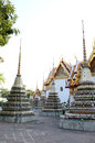 Wat pho bangkok authentic thai architecture in at thailand Royalty Free Stock Photography