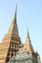 Wat pho bangkok authentic thai architecture in at thailand Stock Photography