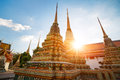 Wat pho in bangkok thailand late afternoon Royalty Free Stock Image