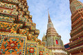 Wat pho bangkok thailand means temple in thai the temple is one of bangkok s most famous tourist sites Royalty Free Stock Photo