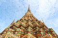 Wat pho bangkok thailand means temple in thai the temple is one of bangkok s most famous tourist sites Royalty Free Stock Image