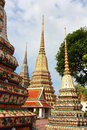 Wat pho bangkok thailand means temple in thai the temple is one of bangkok s most famous tourist sites Royalty Free Stock Photos