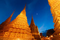 Wat pho in bangkok thailand by night Royalty Free Stock Image