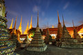 Wat pho in bangkok thailand night scene of Royalty Free Stock Photos