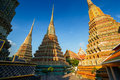 Wat pho in bangkok thailand temple Royalty Free Stock Photos