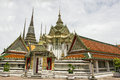 Wat pho is a buddhist temple in phra nakhon district bangkok thailand Royalty Free Stock Photo