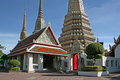 Wat Pho Chedis Royalty Free Stock Photo