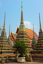 Wat pho monastery in bangkok thailand vertical image of temple Royalty Free Stock Image