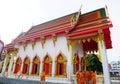 Wat pho sok phot ja lert Thailand temple with monks