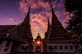 Wat Pho in the sunset Royalty Free Stock Photography