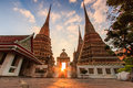 Wat Pho in the sunset Stock Image