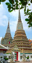 Wat pho temple in bangkok vertical image of thailand Royalty Free Stock Photos