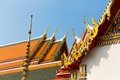 Wat pho temple roof ornate of in thailand Stock Image