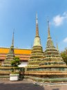 Wat phra chetupon vimolmangklararm po temple thailand Stock Photo