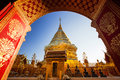 Wat phra that doi suthep historical temple in thailand chaing mai Stock Photography