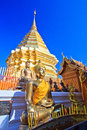 Wat phra that doi suthep in the north of thailand chiang mai province Royalty Free Stock Photos