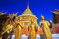 Wat phra that doi suthep in the north of thailand chiang mai province Royalty Free Stock Photo
