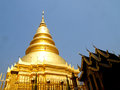 Wat phra that hariphunchai lamphun province of thailand Royalty Free Stock Photos
