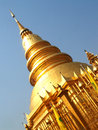 Wat phra that hariphunchai lamphun province of thailand Stock Images