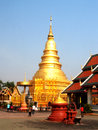 Wat phra that hariphunchai lamphun province of thailand Royalty Free Stock Photography