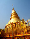 Wat phra that hariphunchai lamphun province of thailand Stock Photography