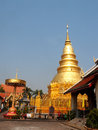 Wat phra that hariphunchai lamphun province of thailand Royalty Free Stock Image