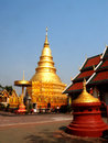 Wat phra that hariphunchai lamphun province of thailand Stock Photos