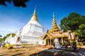Wat phra kaeo don tao part of in lampang Stock Photo