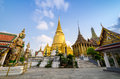 Wat Phra Kaeo, Temple of the Emerald Buddha and the home of the Royalty Free Stock Image