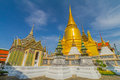 Wat phra kaeo temple of the emerald buddha and the home of the thai king is one bangkok s most famous tourist Royalty Free Stock Photos
