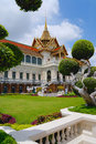 Wat Phra Kaew complex buildings in Bangkok, Thailand. Royalty Free Stock Photo