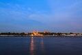 Wat phra kaew and grand palace alongside chao phraya river in bangkok thailand both are property anyone can take photos Royalty Free Stock Image