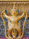 Wat phra kaew the grand palace of thailand bangkok july garuda in Royalty Free Stock Photos