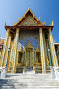 Wat phra kaew temple of the emerald buddha bangkok thailand mondop in public domain Royalty Free Stock Photography