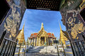 Wat Phra Kaew, Temple of the Emerald Buddha with blue sky Royalty Free Stock Photo