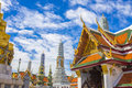 Wat phra kaew thailand golden buddha statue in temple of Stock Photos