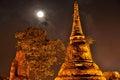 Wat Phra Mahathat at night Royalty Free Stock Photo