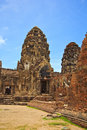 Wat phra si rattana mahathat thailand ancient structure at in lopburi province of Royalty Free Stock Photography