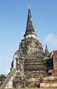 Wat phra si sanphet ayutthaya thailand southeast asia Royalty Free Stock Images