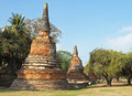 Wat phra si sanphet ayutthaya thailand southeast asia Royalty Free Stock Photo