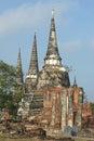 Wat phra si sanphet ayutthaya thailand southeast asia Royalty Free Stock Image