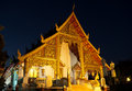 Wat phra singh in chiang mai in the night thailand Stock Photos