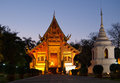 Wat phra singh chiang mai sunset thailand Royalty Free Stock Photography