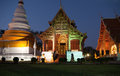 Wat phra singh in chiang mai on sunset thailand Royalty Free Stock Image