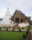 Wat Phra Singh Woramahaviharn in Chiang Mai Royalty Free Stock Photo