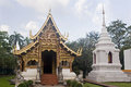 Wat Phra Singh Woramahaviharn in Chiang Mai Royalty Free Stock Photos