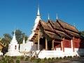 Wat phra singh woramahaviharn at chiangmai thailand Royalty Free Stock Images
